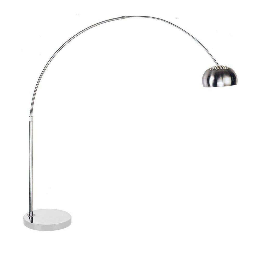 Mid century modern reproduction arco floor lamp round white marble mid century modern reproduction arco floor lamp round white marble base inspired by achille aloadofball Choice Image