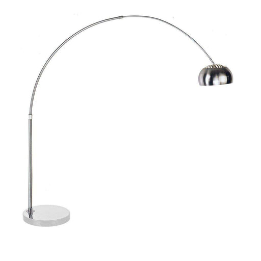 Mid century modern reproduction arco floor lamp round white marble base inspired by achille