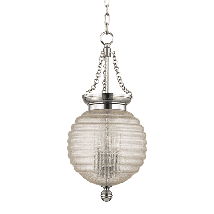 Coolidge 3 Light Pendant Polished Nickel