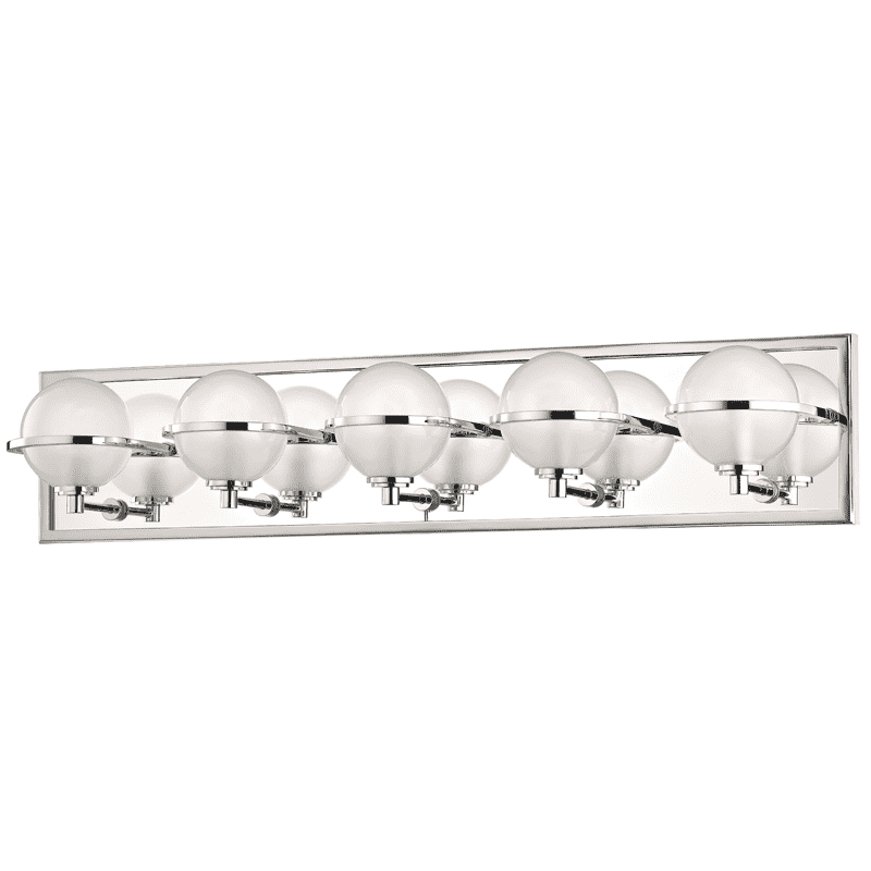 Axiom 5 Light Bath Bracket Polished Nickel