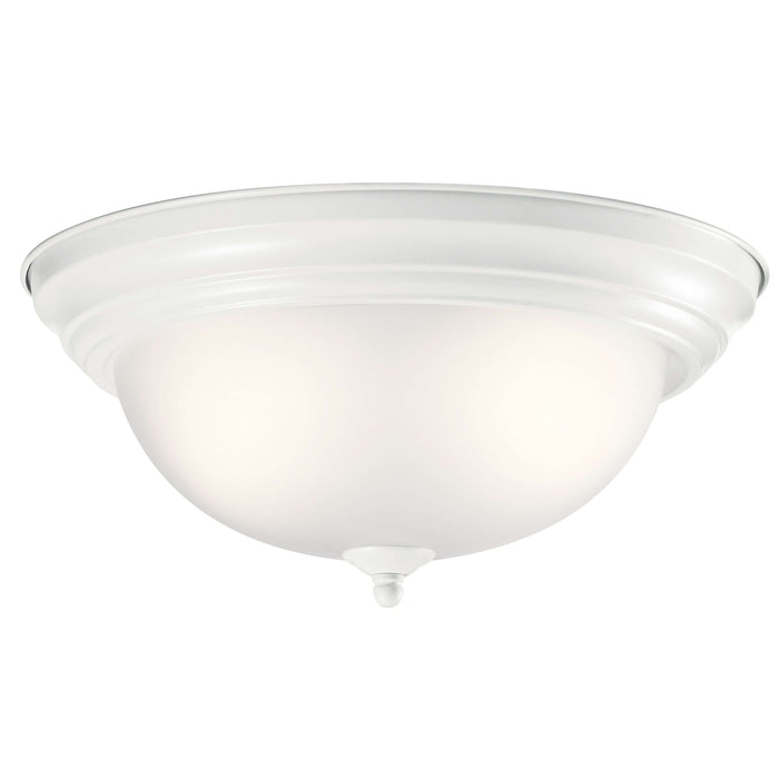 Flush Mount 2 Light - White