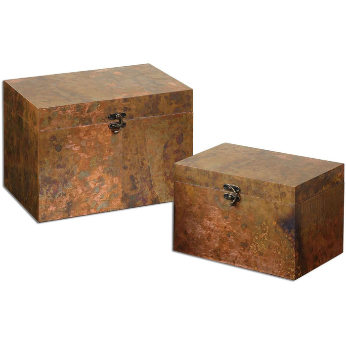 Uttermost Ambrosia Copper Boxes S/2