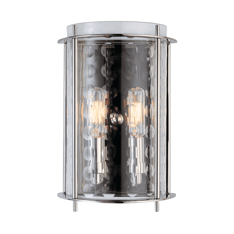 Esopus 2 Light Wall Sconce Polished Nickel