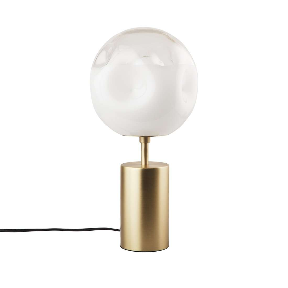 Melting Glass And Brass Table Lamp