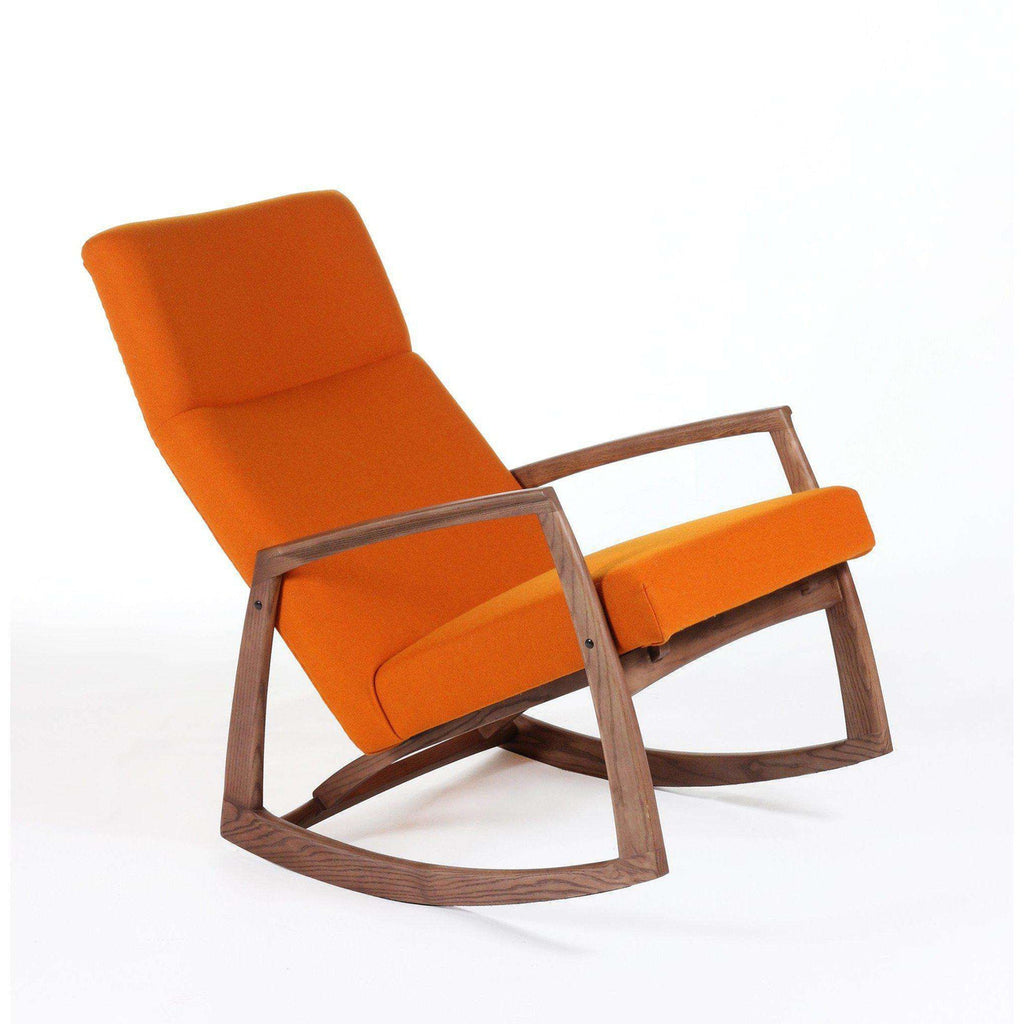 Mid-Century Modern Iomar Rocking Chair - Orange