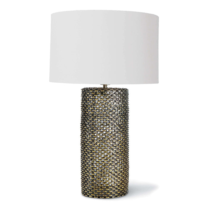 Chain Link Table Lamp (Antique Brass)