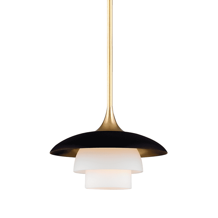 Barron 1 Light Pendant Aged Brass