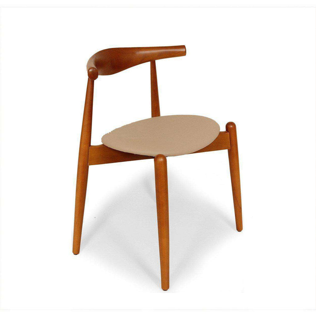 Mid century modern reproduction ch20 elbow chair brown for Mid century reproduction