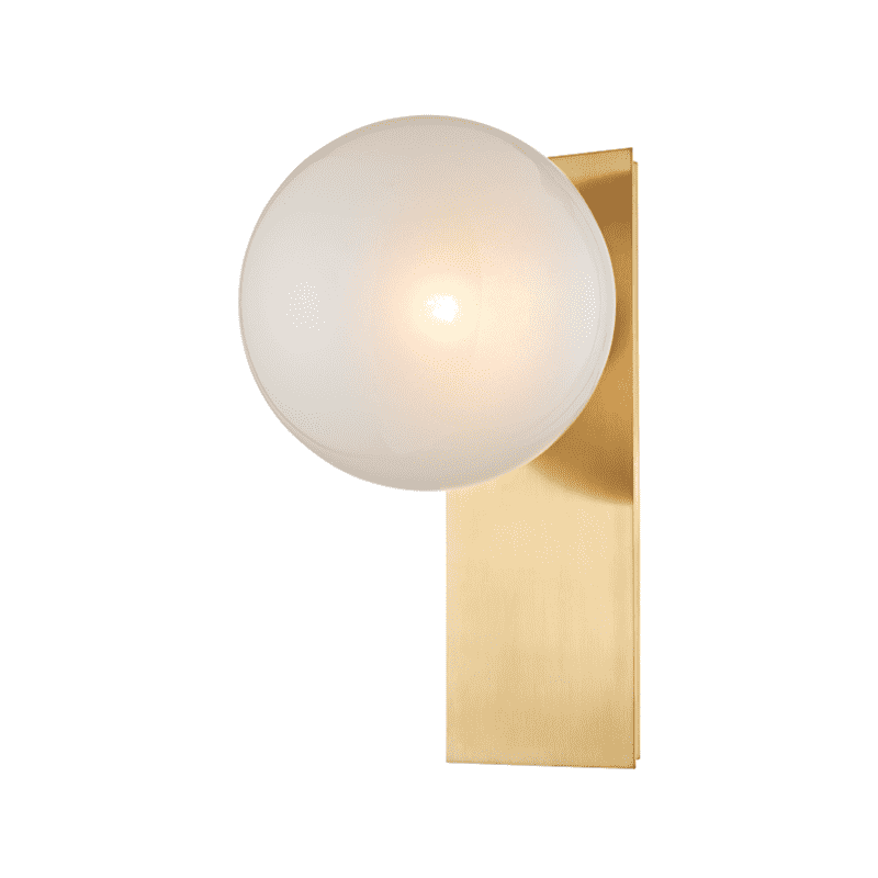 Hinsdale 1 Light Wall Sconce Aged Brass