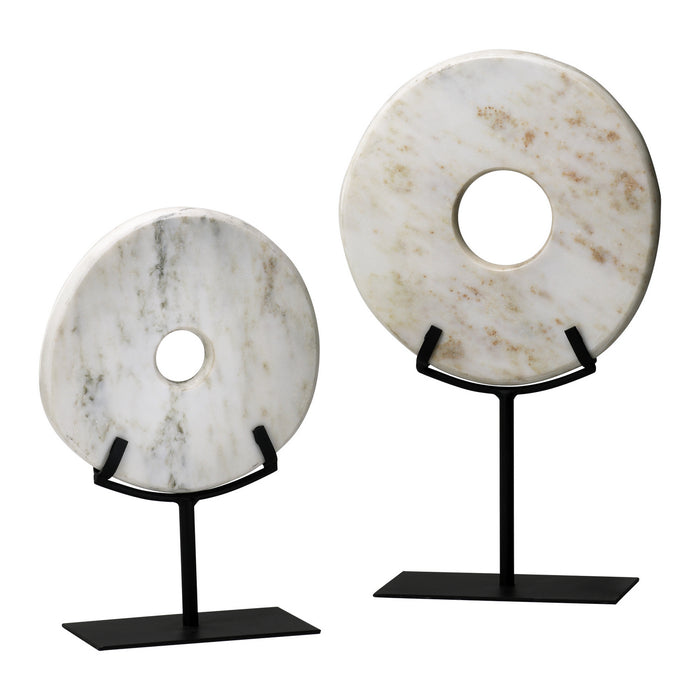 Sm. White Disk On Stand