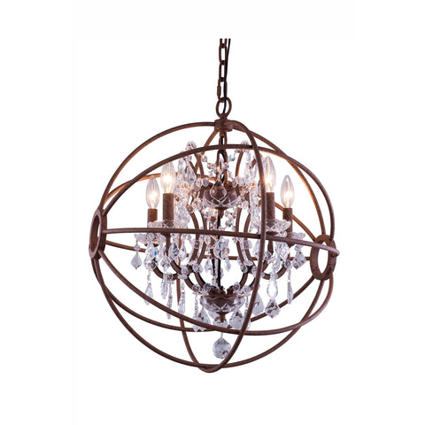 1130 Geneva Collection Pendent Lamp Rustic Intent Finish - Clear