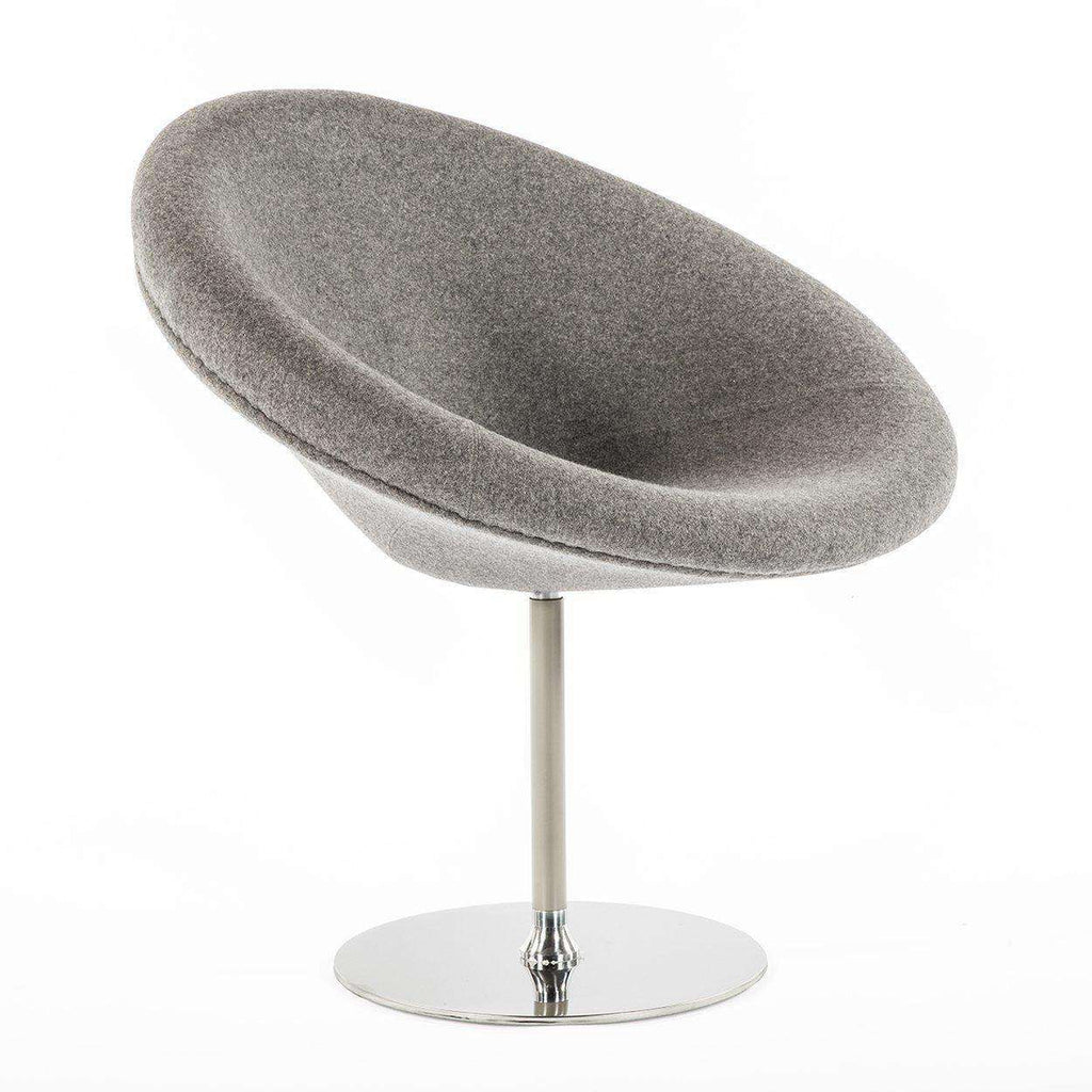 Mid Century Modern Reproduction Little Globe Chair   Grey Inspired By  Pierre Paulin