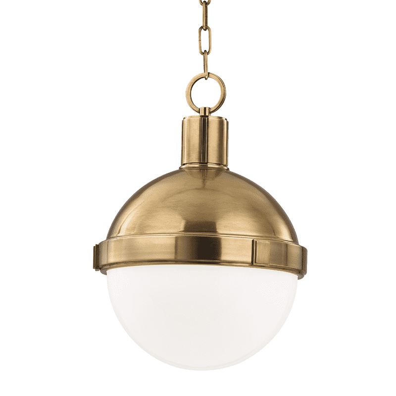 Lambert 1 Light Pendant Aged Brass