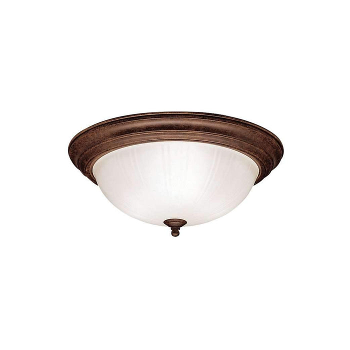 Flush Mount 3 Light - Tannery Bronze