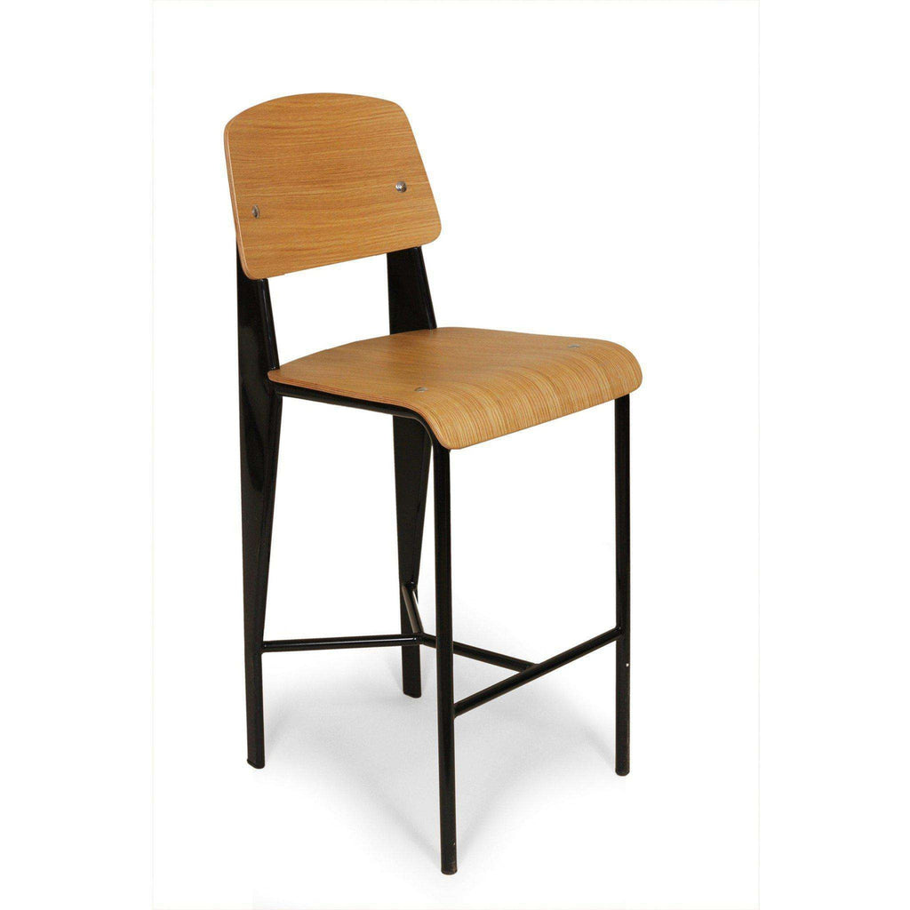 Mid-Century Modern Reproduction Standard Barstool - Black Inspired by Jean Prouve
