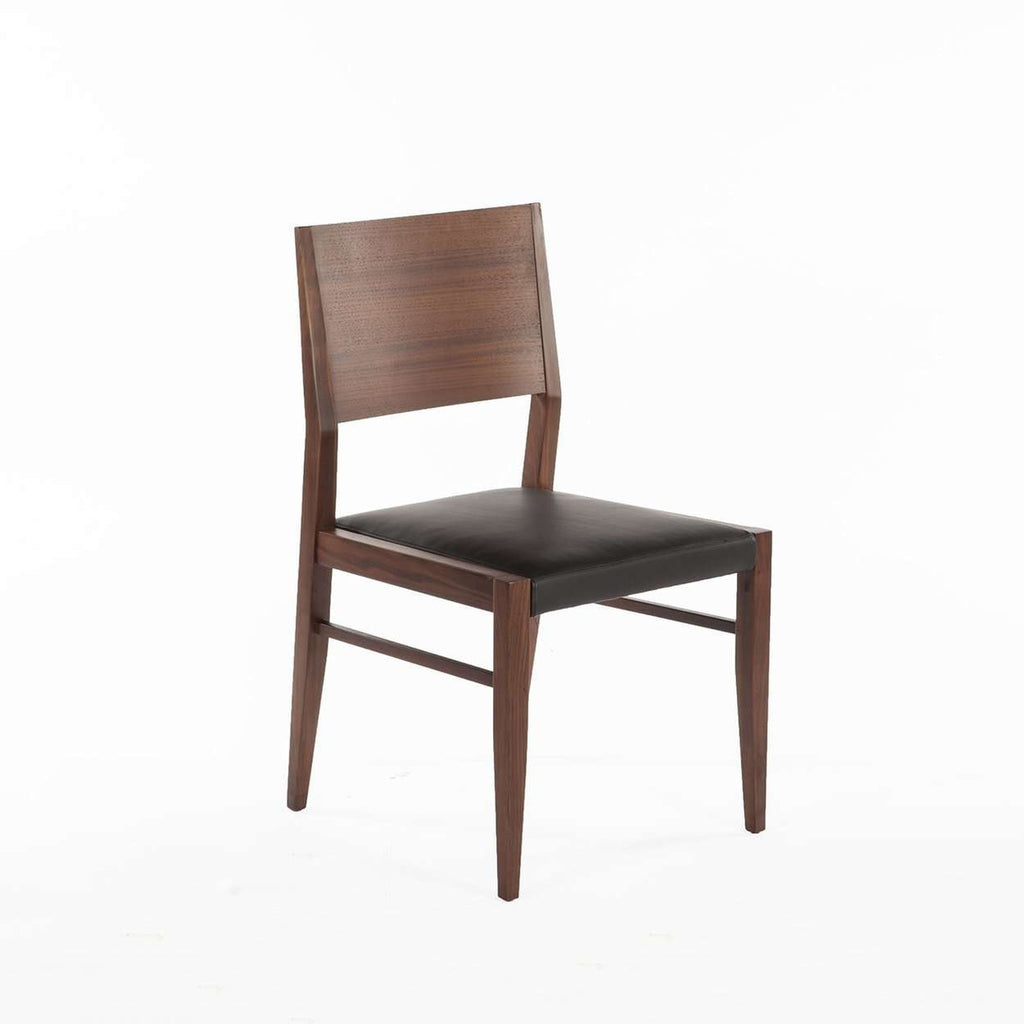 Modern Boid Dining Side Chair - Black Leather
