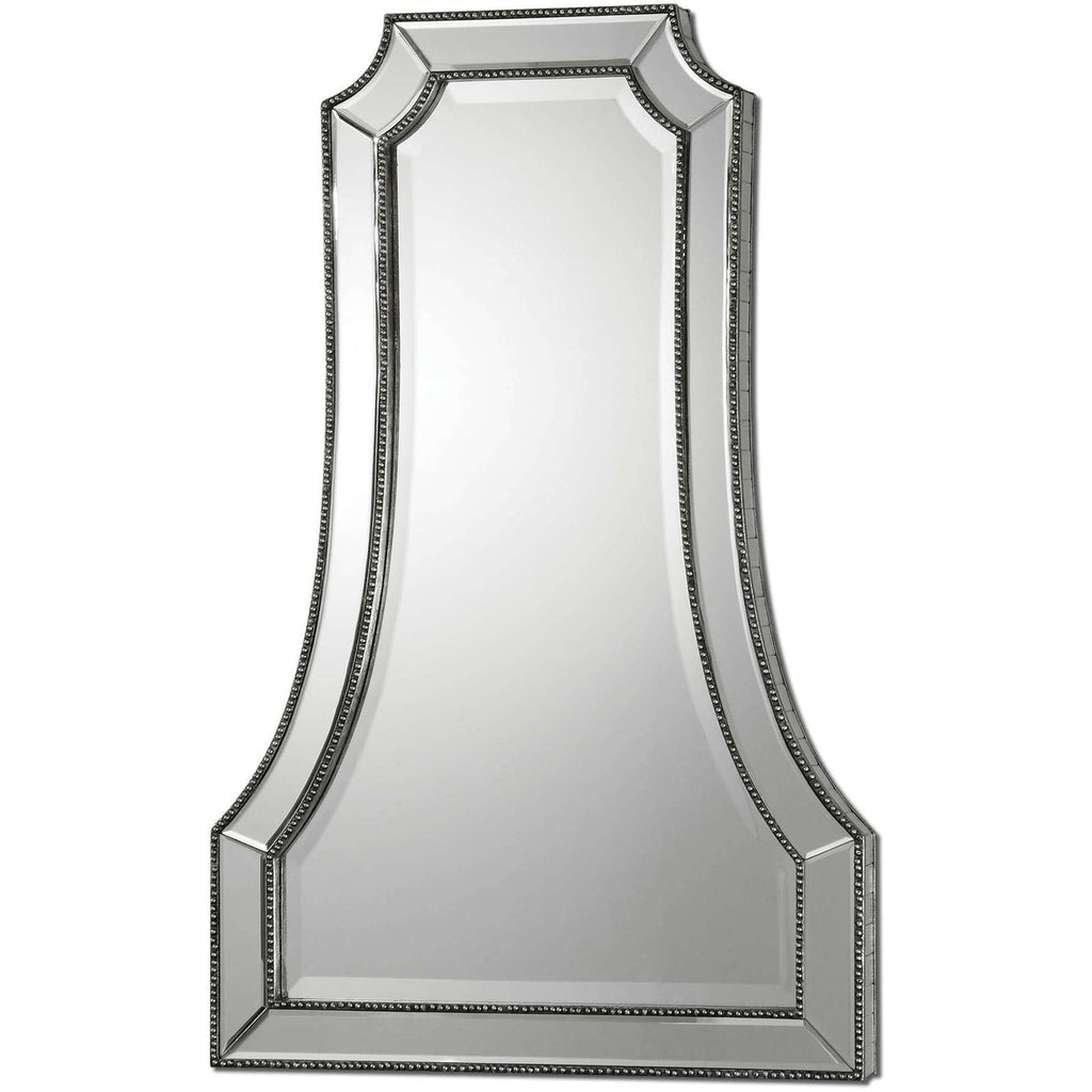 Uttermost Cattaneo Silver Beaded Mirror