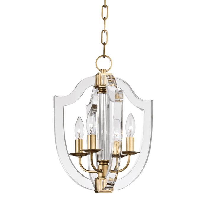 Arietta 4 Light Pendant Aged Brass