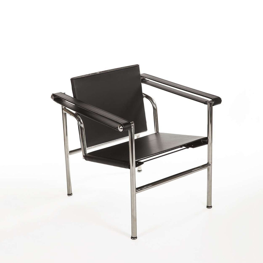 Mid-Century Modern Reproduction LC1 Basculant Sling Chair Inspired by Le Corbusier