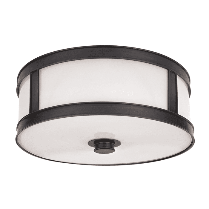 Patterson 3 Light Flush Mount Old Bronze