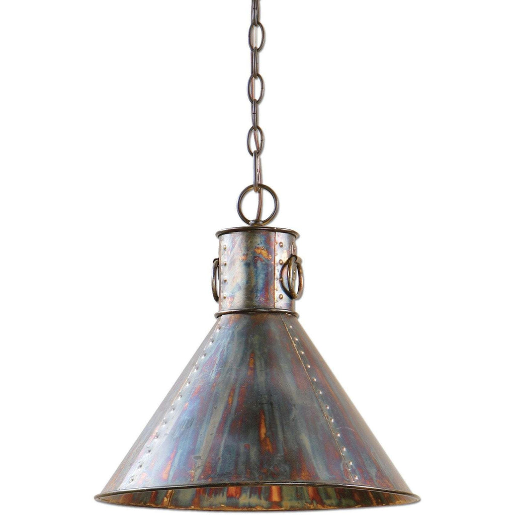 Uttermost Levone 1 Light Oxidized Bronze Pendant
