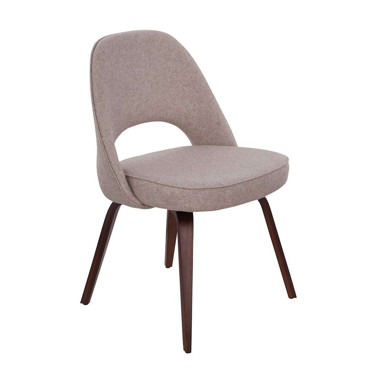 Executive Side Chair With Wood Legs   Wheat
