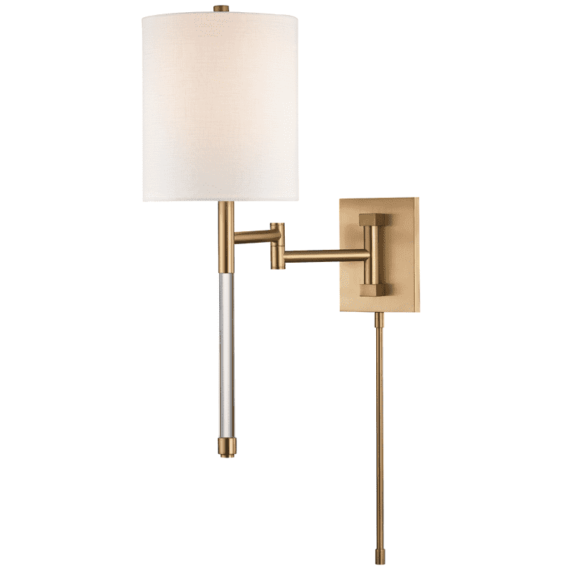 Englewood 1 Light Wall Sconce Aged Brass