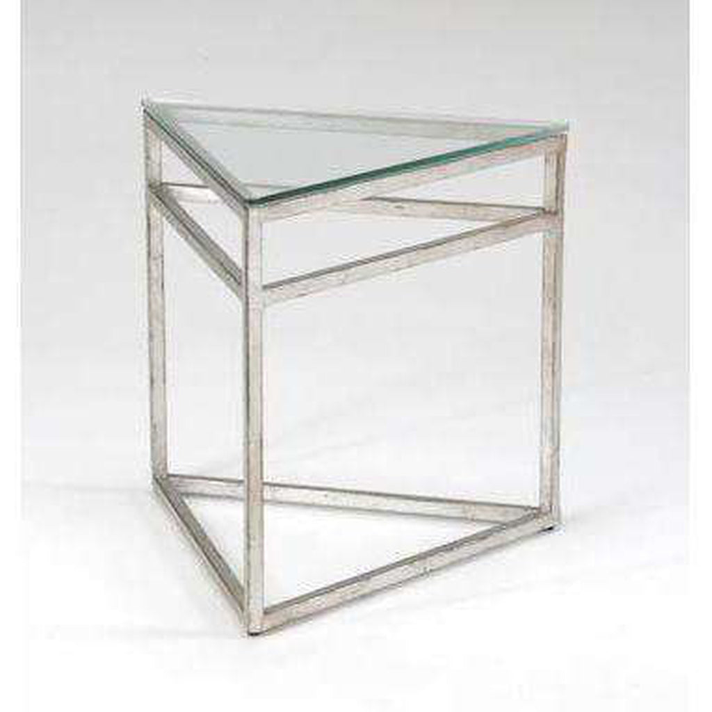 Chelsea House Triangular Table- Silver