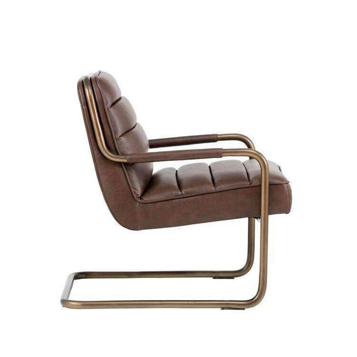 Lincoln Lounge Chair - Rustic Bronze