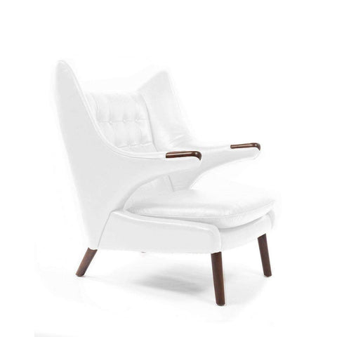 PP19 Papa Bear Chair - White Leather - [staff pick] free shipping