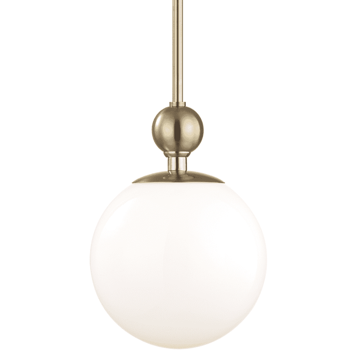 Daphne 1 Light Large Pendant - Aged Brass