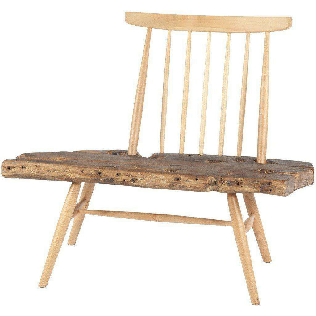 Freeform Wood Alrick Small Bench *PICK UP ONLY*