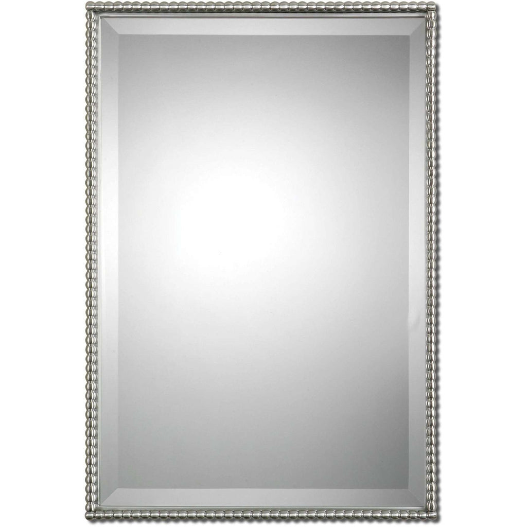 framed bathroom mirrors brushed nickel uttermost sherise brushed nickel mirror amp 23198