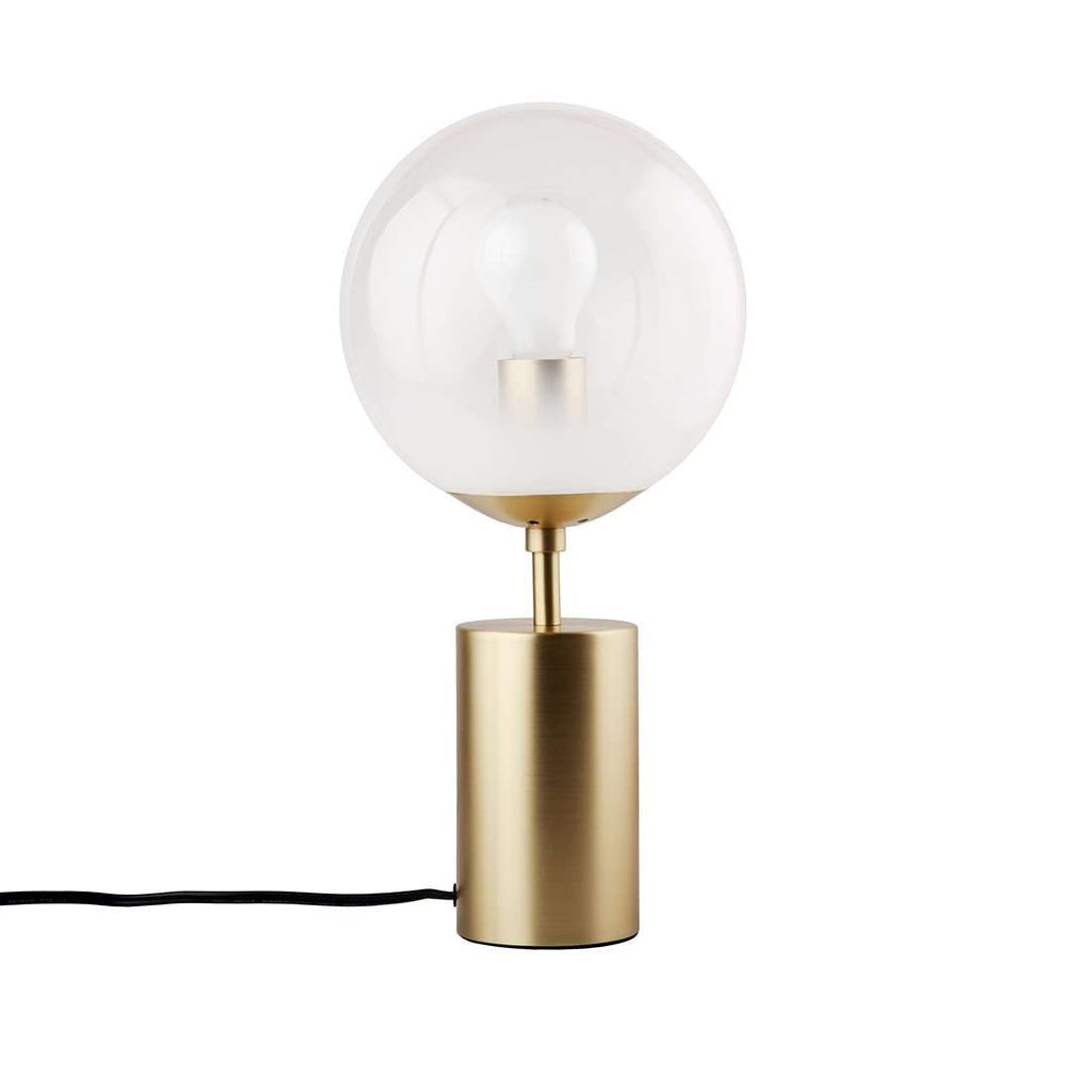 Brass And Glass Globe Table Lamp