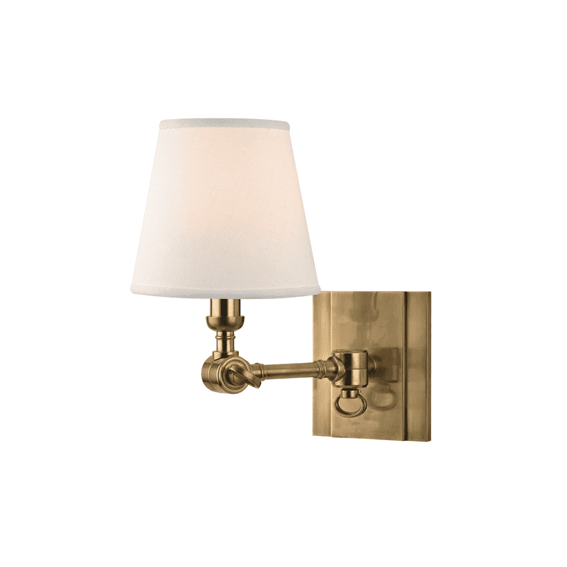 Hillsdale 1 Light Wall Sconce Aged Brass