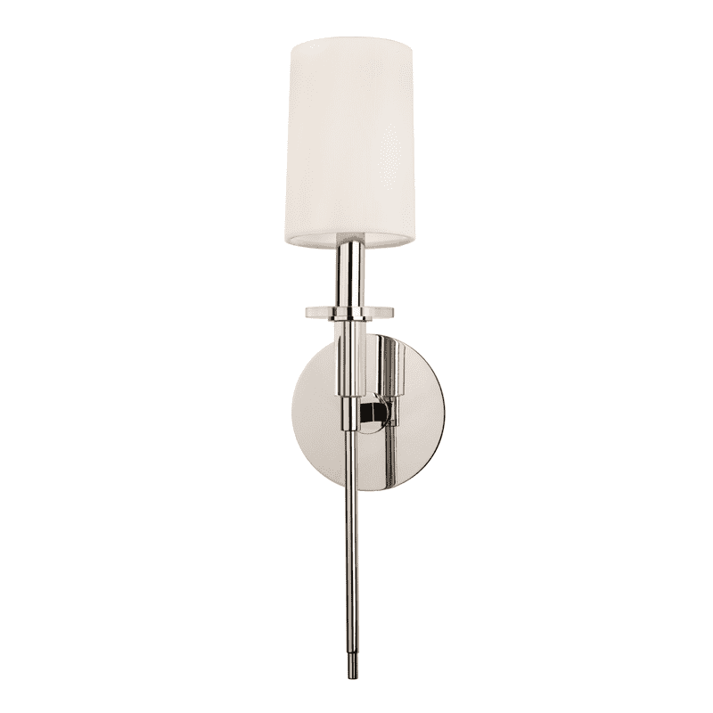 Amherst 1 Light Wall Sconce Polished Nickel