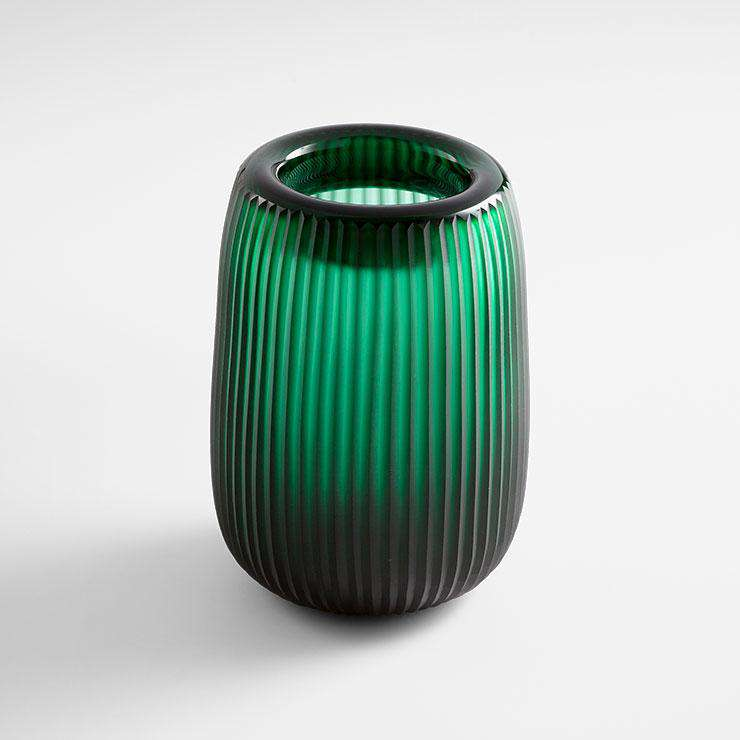 Large Glowing Noir Vase