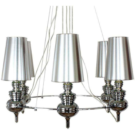 Chrome Josephine Queen 6 Chandelier