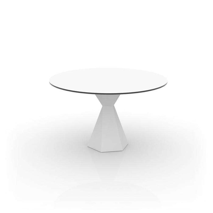 "Vertex Round Table Full white/ colors 35"" 1/4 By Vondom"