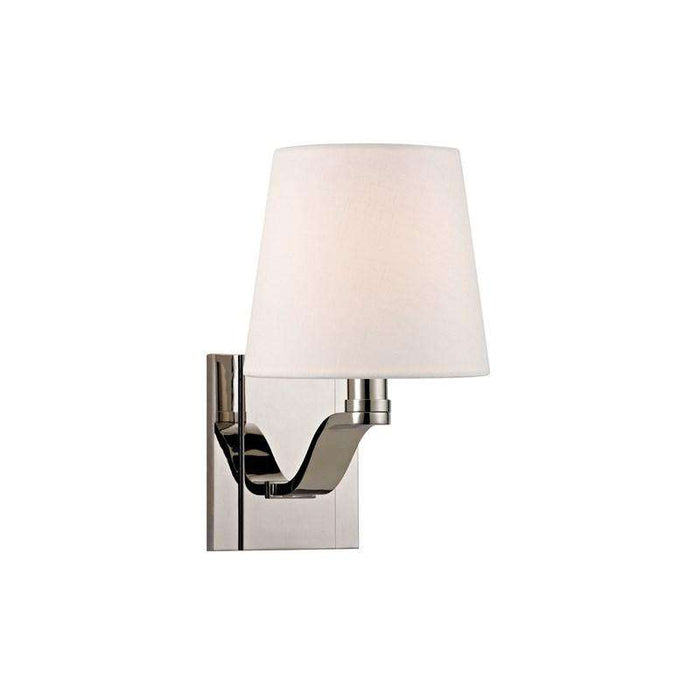 Clayton 1 Light Wall Sconce Polished Nickel