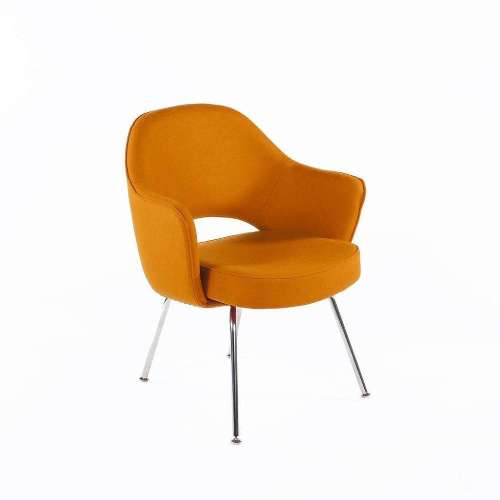 Mid-Century Modern Reproduction Executive Arm Chair - Orange Wool Inspired by Eero Saarienen