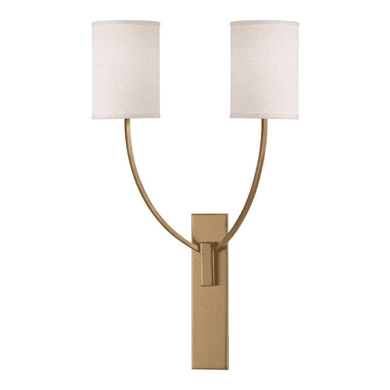 Colton 2 Light Wall Sconce Aged Brass