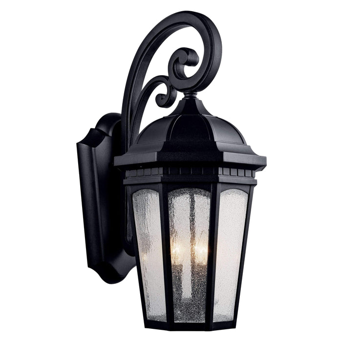 Courtyard Outdoor Wall 3 Light - Textured Black