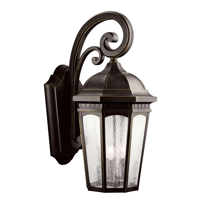 Courtyard Outdoor Wall 3 Light - Rubbed Bronze