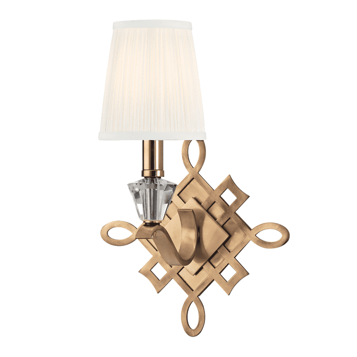 Fowler 1 Light Wall Sconce Aged Brass