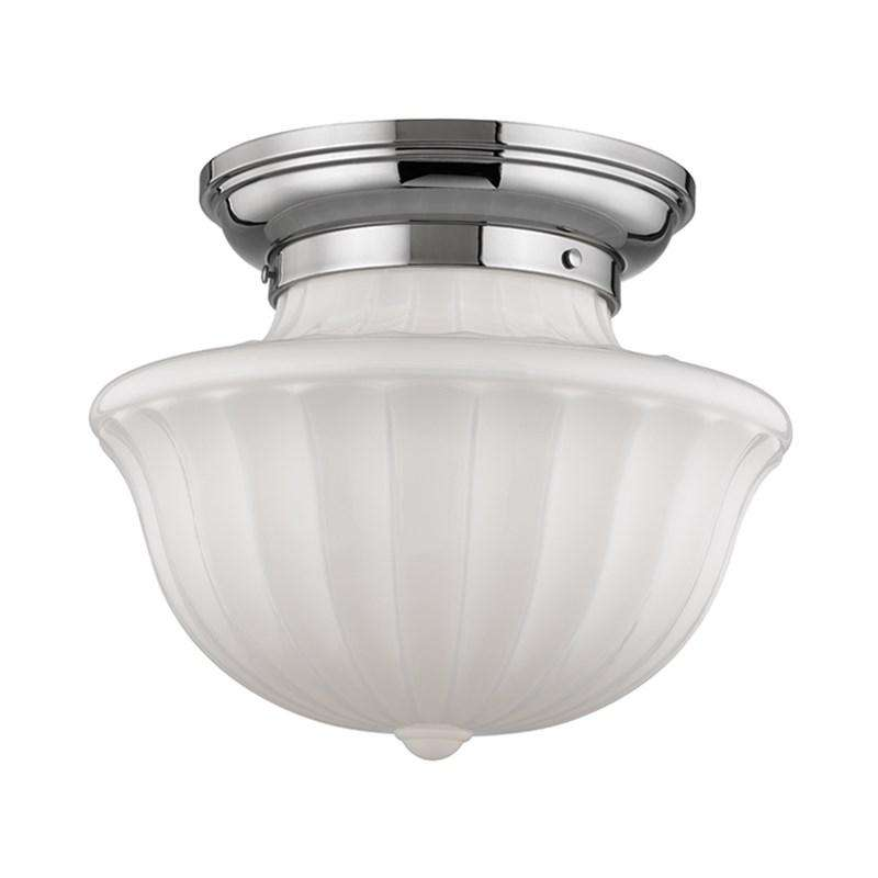 Dutchess 2 Light Large Flush Mount Polished Nickel