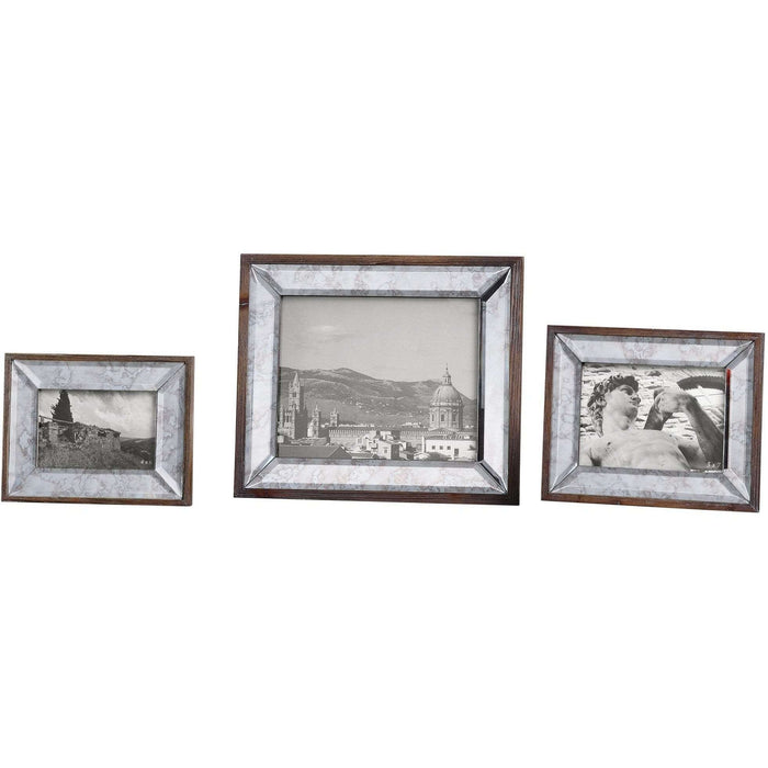 Uttermost Daria Antique Mirror Photo Frames S/3