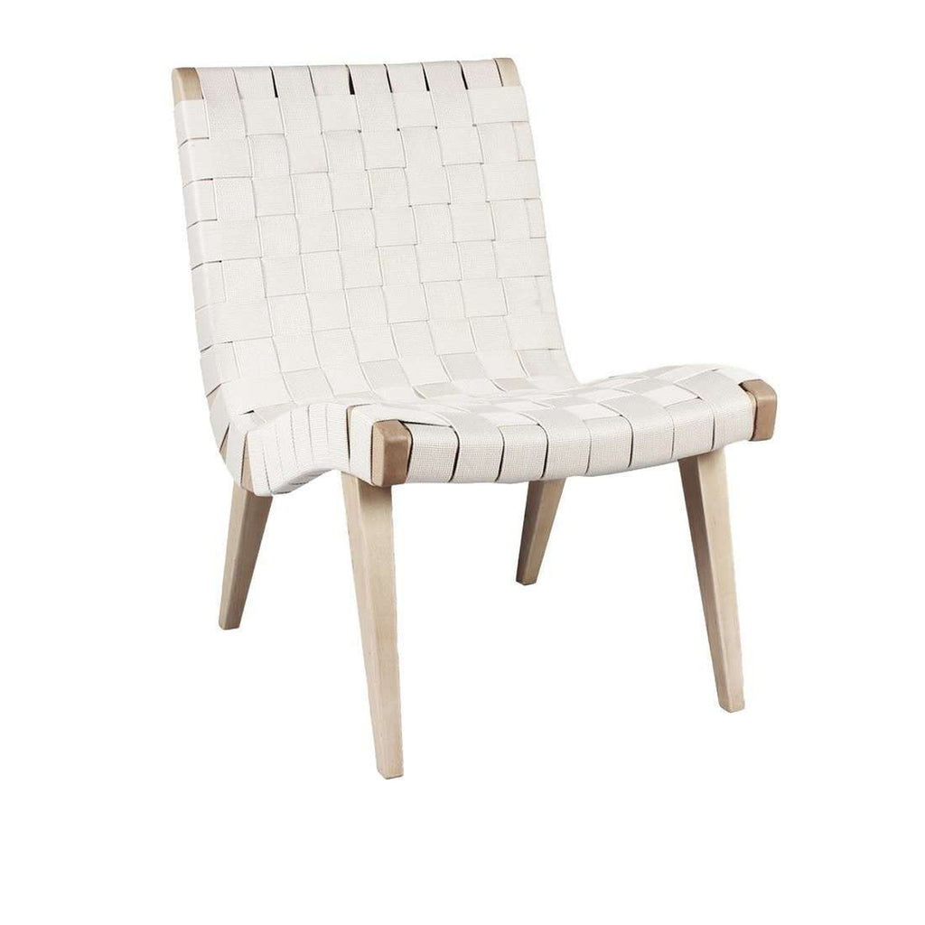 Charmant Mid Century Modern Reproduction Risom Lounge Chair   White Inspired By Jens  Risom