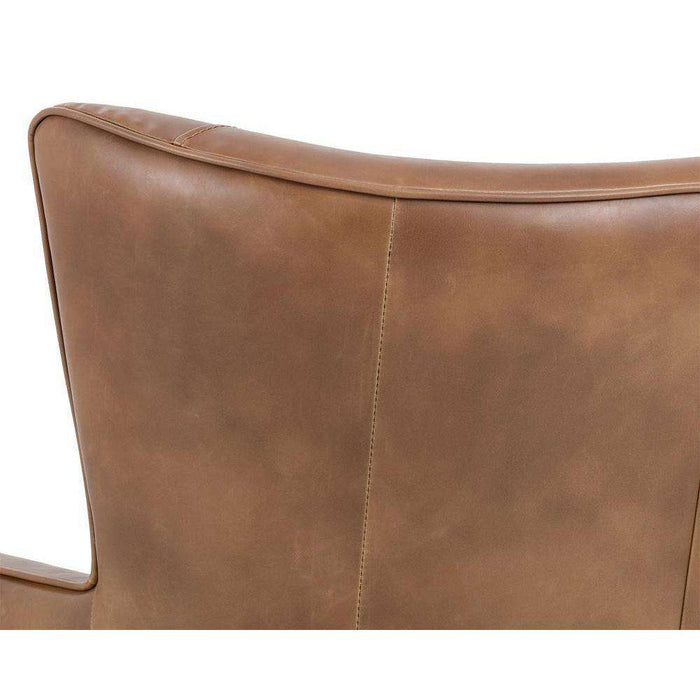 LUTHER OCCASIONAL CHAIR - TOBACCO TAN