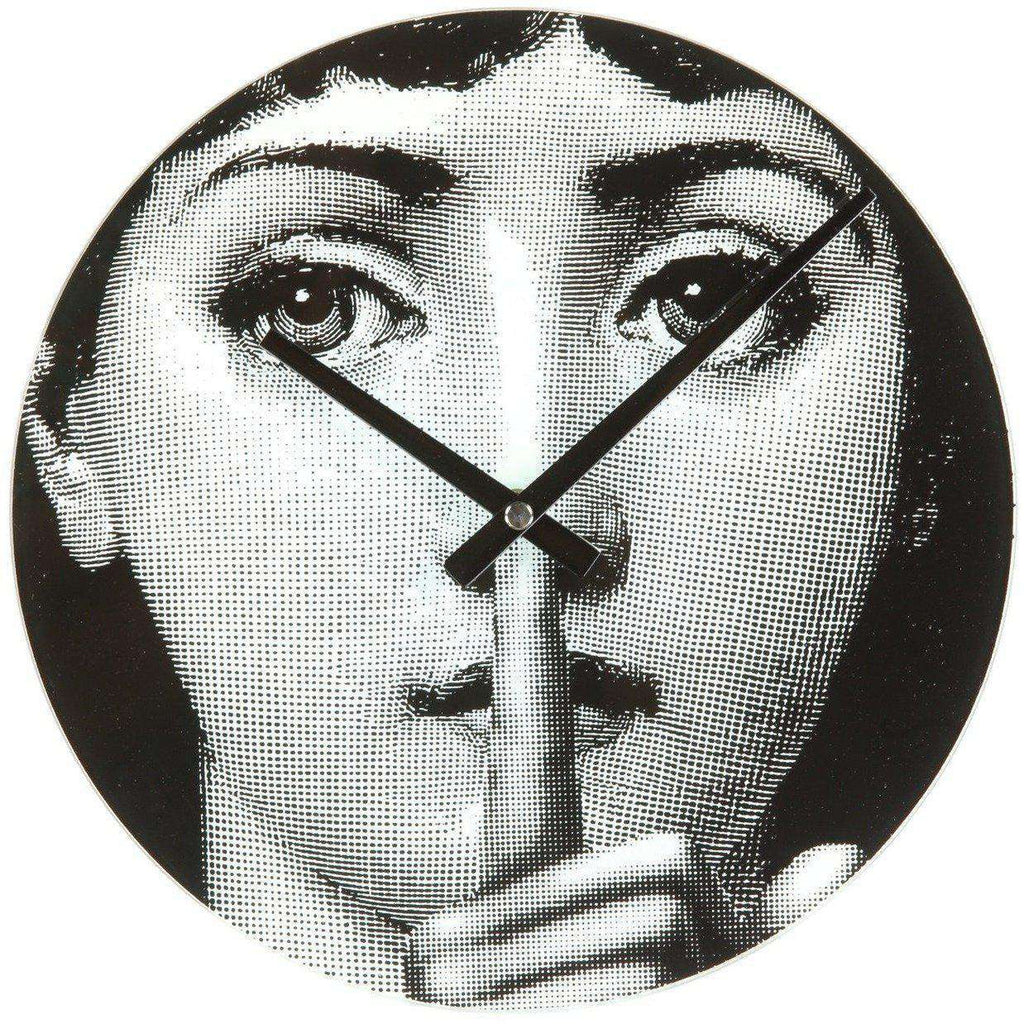 Mid-Century Modern Reproduction Girl Clock - Hush Inspired by Piero Fornasetti